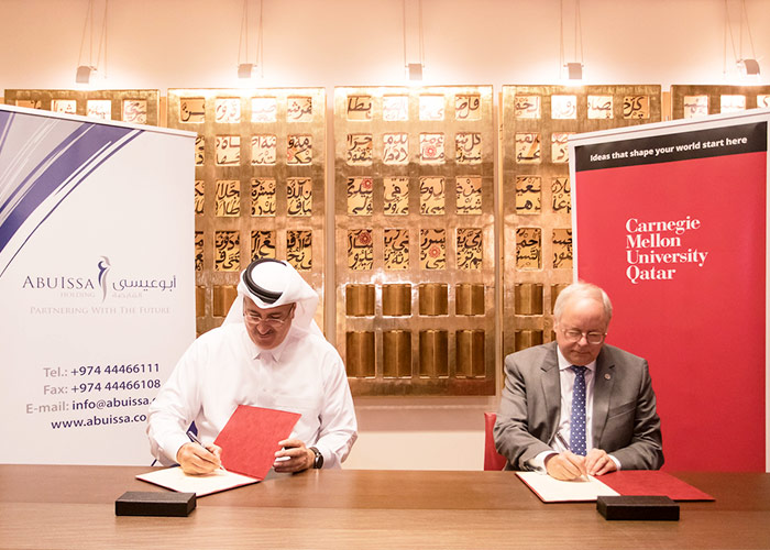 CMU-Q signs Memorandum of Understanding with Abuissa Holding
