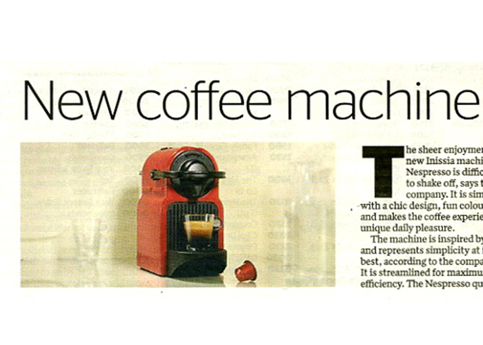 Nespresso's New Inissia Machine Launch